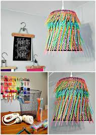make your own ombre neon zip tie chandelier