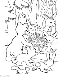 Animals At The Manger Coloring Page Fascinating Christmas