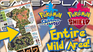 Full Map of the Wild Area in Pokémon Sword & Shield Revealed! (...Blurrily)  - YouTube