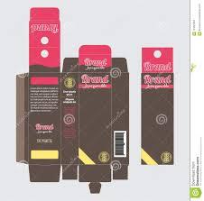 Box Design Template Illustrator Product Packaging Cardboard Paper Box Template Hanging Tab