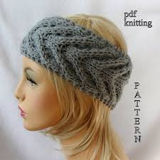 Knit Ear Warmer Pattern Extraordinary Knit Ear Warmer Pattern Knit Headband Pattern Knit Staghorn Etsy