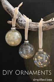 diy gold glitter glass ornaments simplified bee
