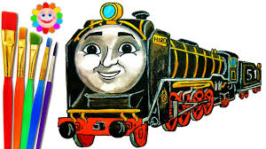 To print out your thomas the train coloring page, just click on the image you want to view and print the larger picture on the next page. How To Draw Train Thomas And Friends Coloring Pages Hiro Train Video For Kids Youtube