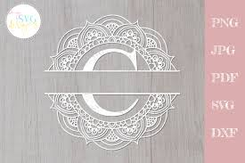 Browse svg vectors about christmas term. Split Monogram C Frame Graphic By Mysvgdesigns Creative Fabrica