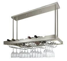 Wine Rack: Floor To Ceiling Mounted Wine Racks Ceiling Hanging Wine Glass  Rack Iron Ceiling