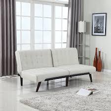 Amazon.com: Modern Tufted Linen Splitback Recliner Sleeper Futon ...