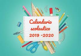 Risultati immagini per CALENDARIO SCOLASTICO 2019-2020