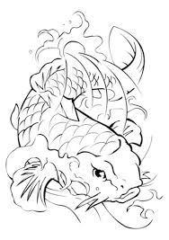 Small Picture Koi Fish Tattoo Coloring Pages Japanese Koi Fish Coloring Pages