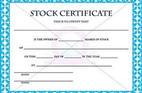 download stock certificate template stock certificate template word template docs form