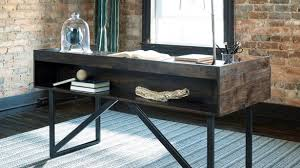 industrial home furniture. Modern Rustic Desk Industrial Home Office With Steel Base By Furniture I