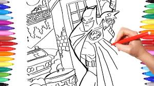 Posted in cartoons coloring pages. Batman In Gotham City Coloring Pages Batman Coloring The Dark Knight Coloring Book For Kids Youtube