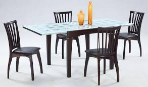 glass dining table set tempered with wood base best four room chairs contemporary charming decoration chair