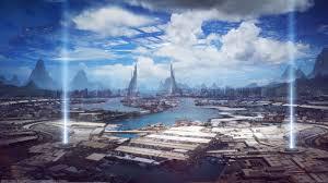 bastien grivet city future wallpaper