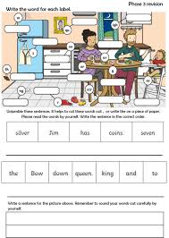 Use this set of differentiated worksheets to help your children to understand, speak and spell words containing the phoneme 'igh'. Phase 3 Revision Interactive Worksheet