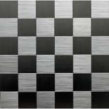 Metal Wall Tiles For Kitchen Instant Mosaic Peel And Stick Metal Wall Tile 3 In X 6 In Tile