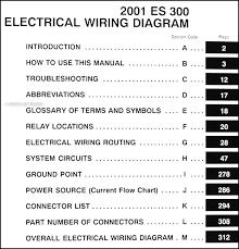lexus es wiring diagram manual original