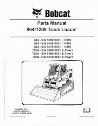 bobcat t200 rubber track loader parts manual book 864 finney Bobcat Loader Parts Diagram bobcat t200 rubber track loader parts manual book 864 bobcat skid loader parts diagrams