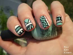Tribal Print Nail Designs Easy Aztec Nail Designs Easy Craft Ideas