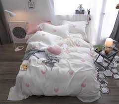 100 princess white pink bedding set queen king double size girls bedroom duvet cover bed sheet set bed cover pillowcases duvets on comforters king