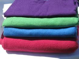 purple green blue pink lot vintage wool fabric for sewing crafts felting braiding rugs