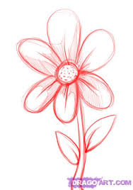 Small Picture How to Draw a Simple Flower Step by Step Flowers Pop Culture