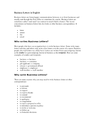 What Is The Business Letter Business Development Cover Letter