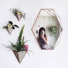 trigg wall planters and prisma mirror