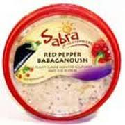 sabra roasted red pepper babaganoush nutrition grade b 70 calories