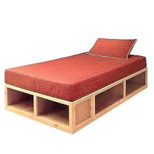 Twin Xl Platform Bed Build A Frame Plans Modern Storage Throughout ...