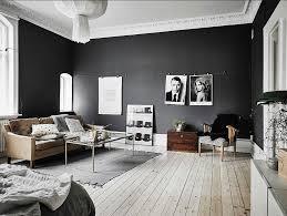 Good Skandinavische Wohnzimmer Schwarz Weiß Design Mit Holzboden Inklusive  Vintage Einrichtung Photo Gallery
