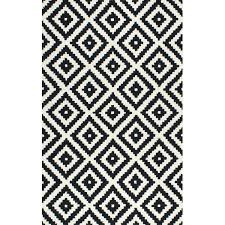 black and white area rug rugs mercury row hand tufted wool reviews striped ikea