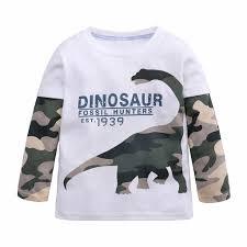 Infant Toddler <b>Baby Boys</b> Girls <b>Cartoon</b> Dinosaur Camouflage Tops ...