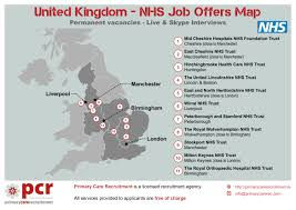 uk nhs job offers map primary care recruitment refer a friend for these job offers and we will pay you pound100