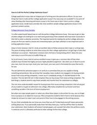College Admission Essay How To Craft The Perfect College Application Essay By