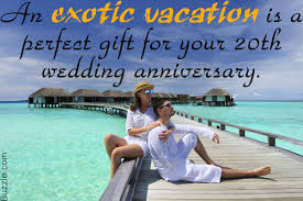 20th wedding anniversary gift ideas