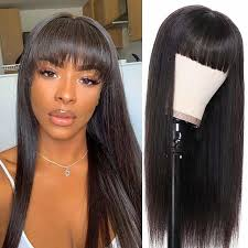 remy human hair wig short straight neat