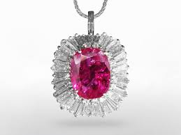 gia certified 7 47ct oval cut unheated purplish red ruby and diamond pendant ring