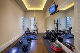 home gym lighting. at home gym decorating ideas traditional with dark stained wood floor exercise mats room lighting r