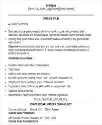 Sample Outside Sales Resume Sales Position Resume Magdalene Project Org