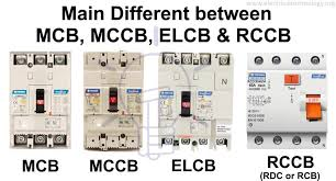 Mcb Size Chart Difference Between Mcb Mccb Elcb And Rcb Rcd Or Rccb