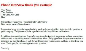 Best Solutions Of Thank You Letter After Phone Interview Email