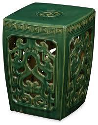 porcelain garden stool asian accent