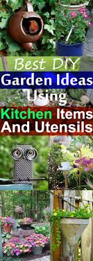 Diy Garden 19 Best Diy Garden Ideas Using Kitchen Items Utensils Balcony