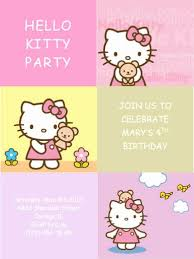 Printable Hello Kitty Invitations Personalized Hello Kitty Invite Template Capriartfilmfestival