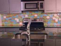how to create a colorful glass tile backsplash
