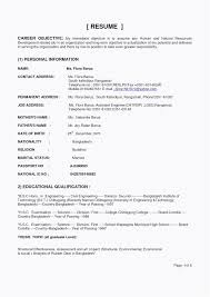 Sample Of Personal Information In Resume Luxury Cv Agent