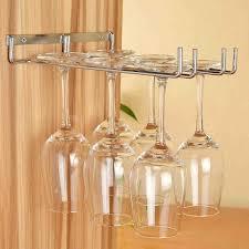 wall mounted stemware rack design