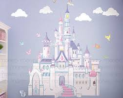 Disney Princess Castle With Colorful Birds And Squirrel Large Wall  Sticker,Kids Room Bedroom