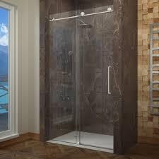 modern frameless shower doors. Astounding Sliding Frameless Glass Shower Door Your Home Idea: Modern Doors : O