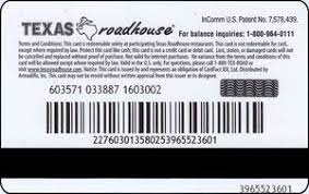 How to use a texas roadhouse gift card without pin? Gift Card Texas Roadhouse Texas Roadhouse United States Of America Logo Col Us Tr 004a